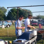 Chefs busy at BBQ