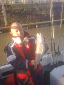 Nigel Devey with a  2lb 3oz whiting  from Portishead  on new years day